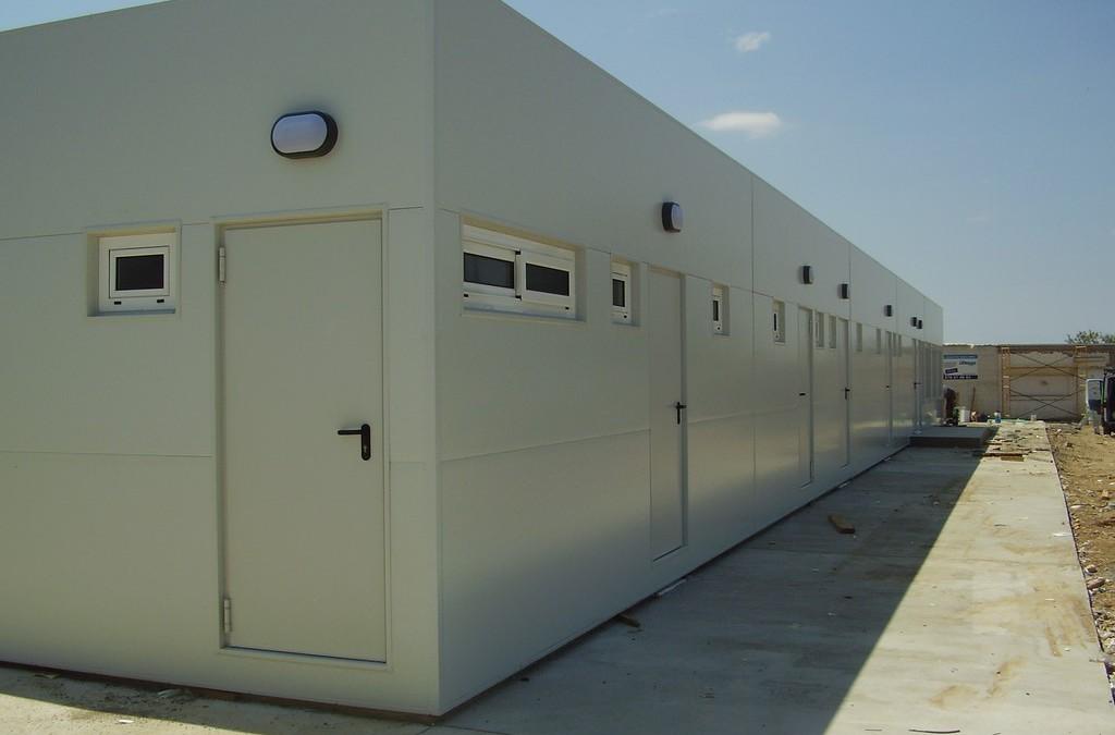 Vestiaires sportif en construction modulaire