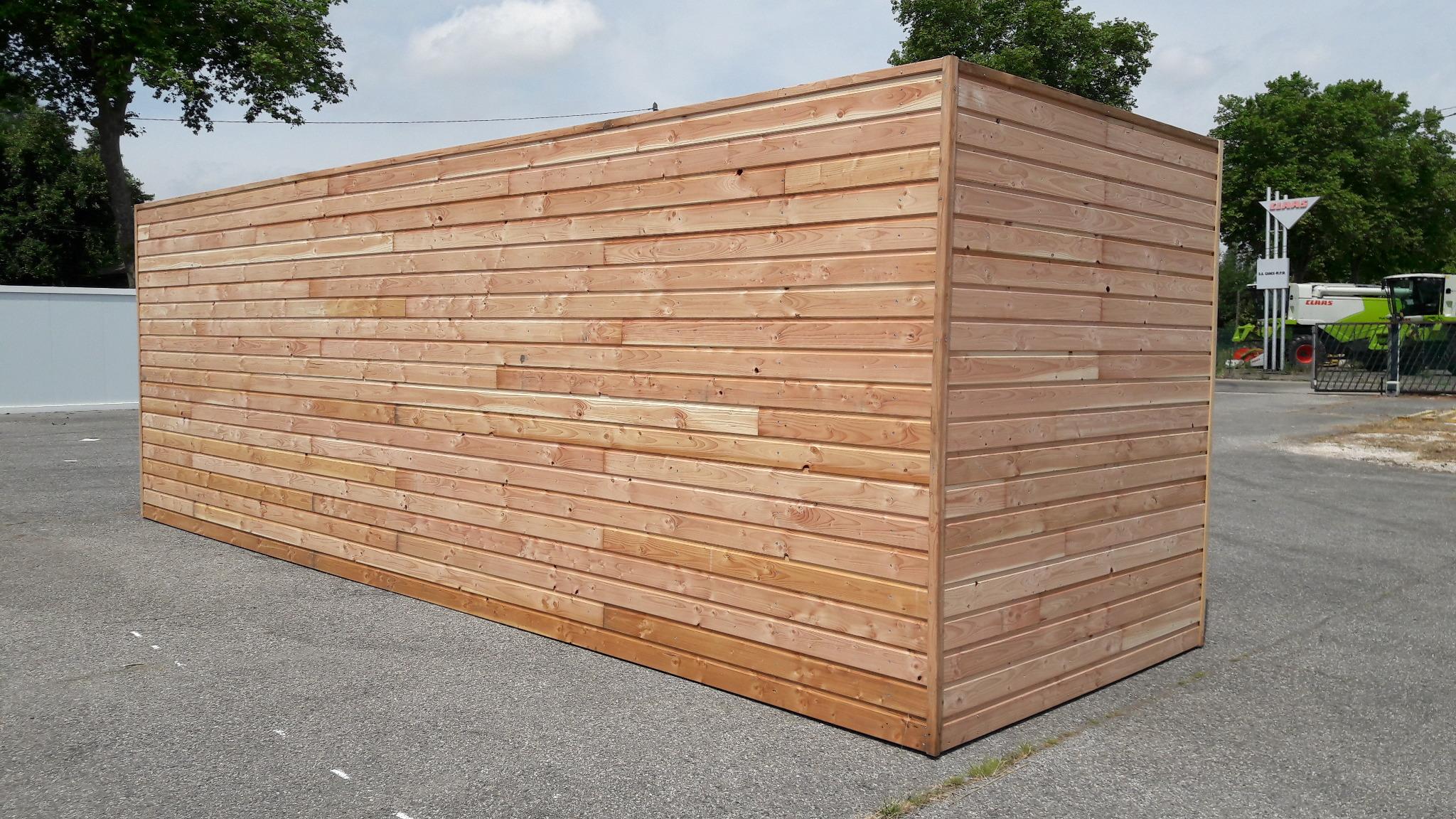 bardage bois sur bungalow TOULOUSE