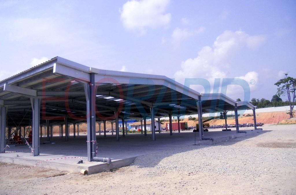 Hangars démontables métalliques ECORAPID