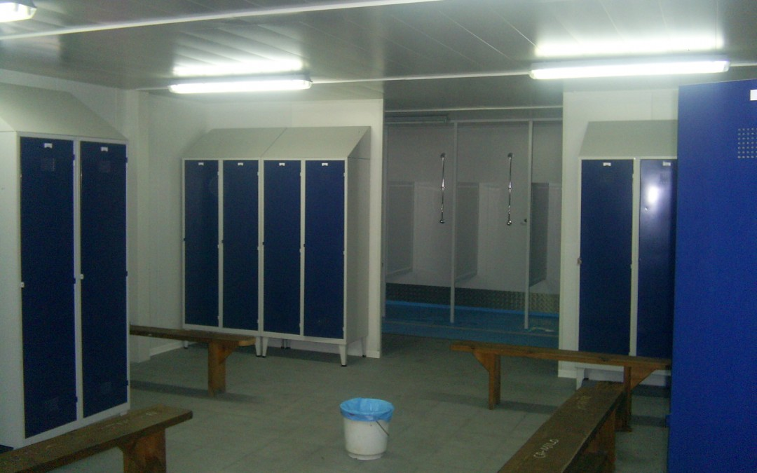 Construction modulaire vestiaire foot/rugby